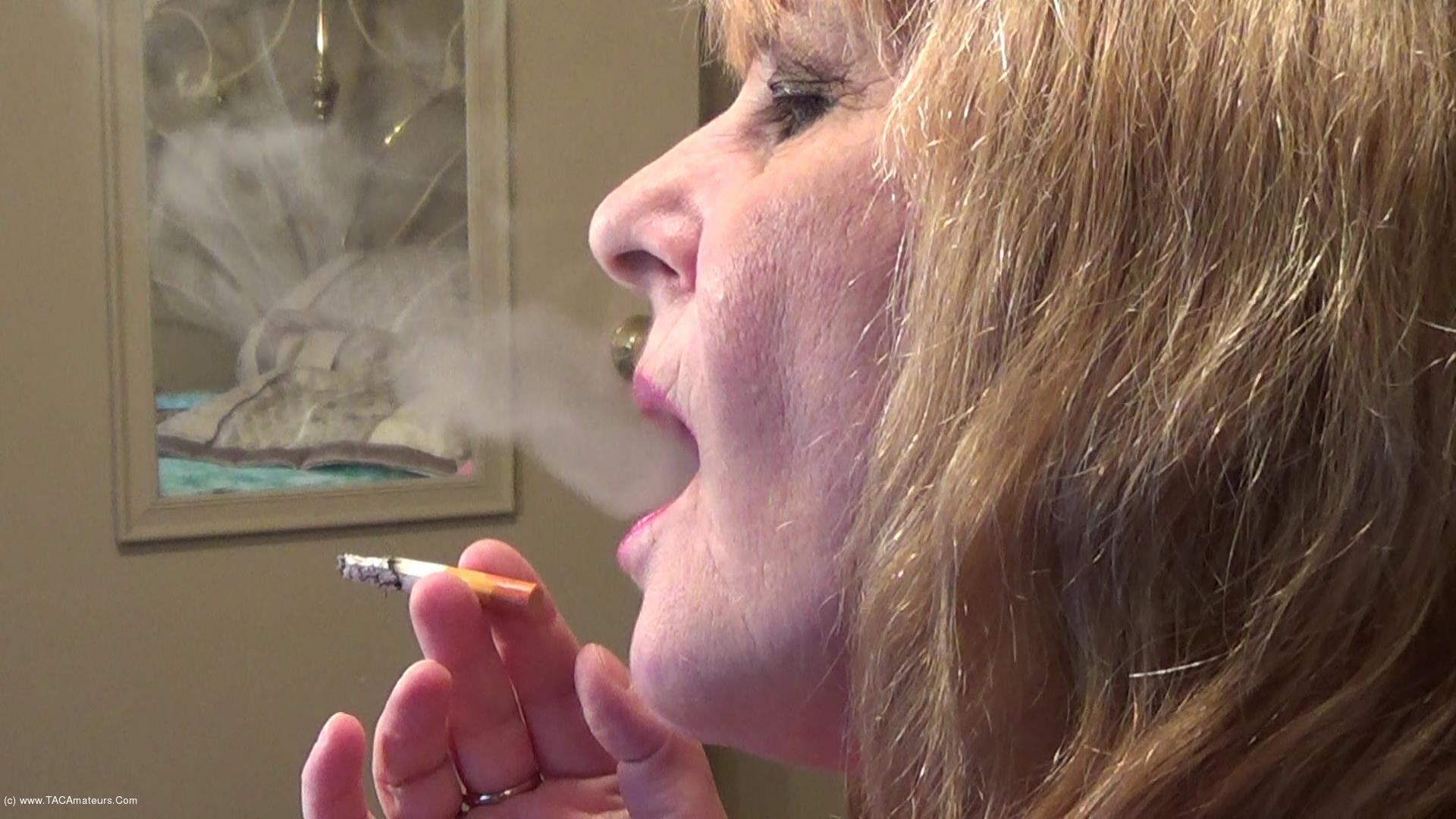 CougarBabeJolee - Side View Smoking Closeup scene 2