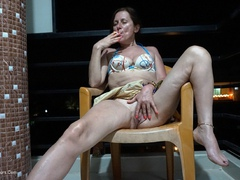 DianaAnanta - Smoking On The Balcony Gallery