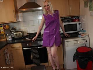 Work Dress Purple Worker
