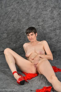 hotmilf - Posing In My Red Negligee Free Pic 4
