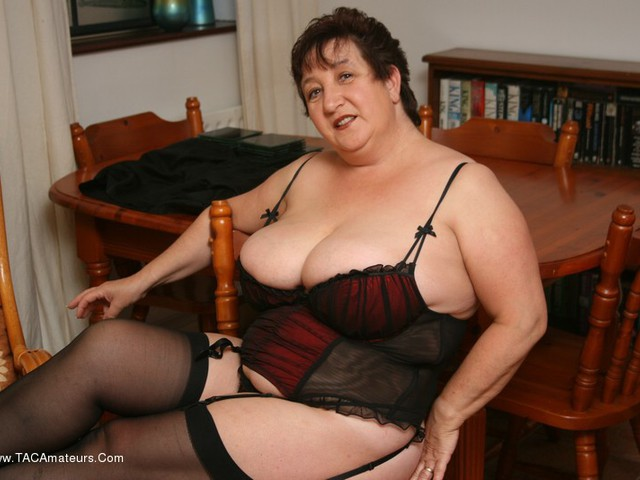 KinkyCarol - Stockings Red  Black Pt2
