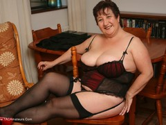 KinkyCarol - Stockings, Red & Black Pt3 Gallery