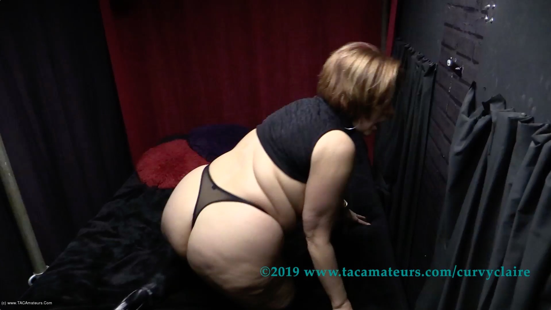 CurvyClaire - Thighboot Dildo Fun Pt1 scene 2