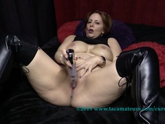 CurvyClaire - Thighboot Dildo Fun Pt1 HD Video