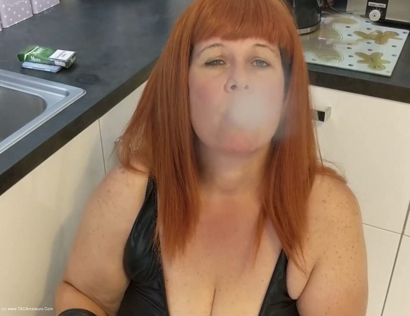 MrsLeather - More Smoky BJ scene 3