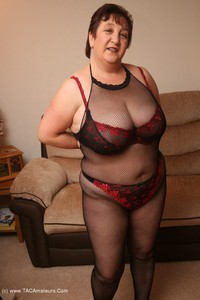 kinkycarol - Bodystocking, Black & Red Pt2 Free Pic 4