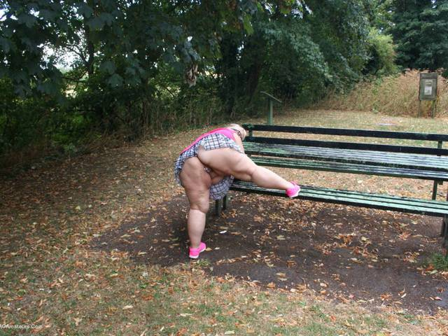 LexieCummings - Lexie Strips At The Picnic Bench