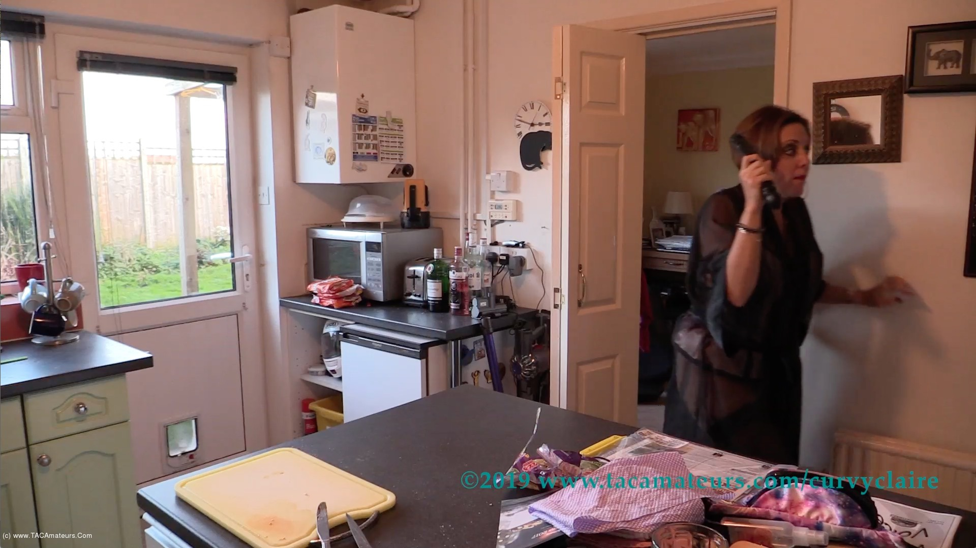 CurvyClaire - Claire's Masked Robber Pt1 scene 3