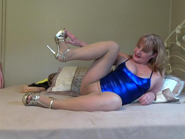 CougarBabeJolee - Sultry In PVC  Pantyhose Pt2