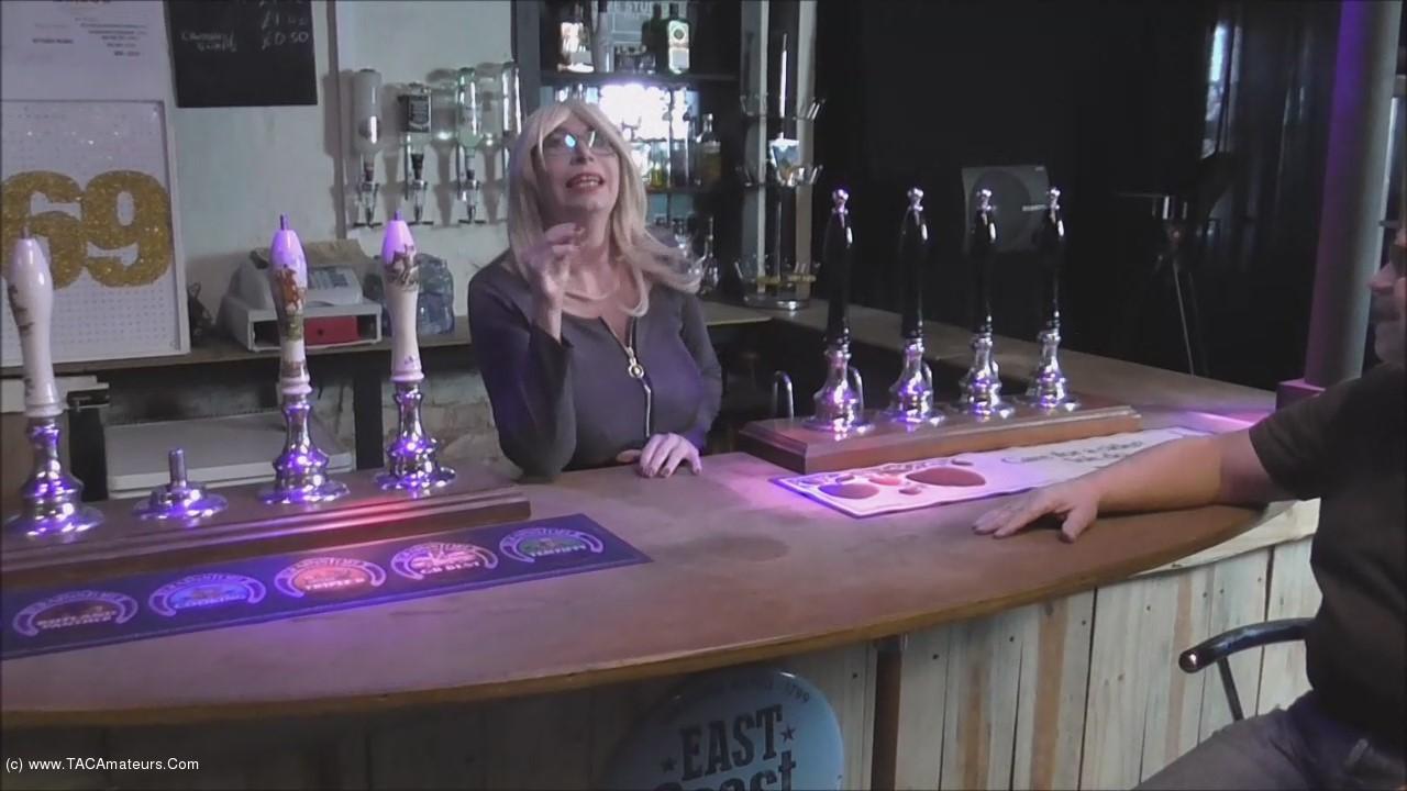 BarbySlut - Barby The Topless Barmaid scene 1