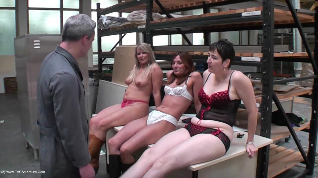 SweetSusi - Three Horny Girls Fucked At Work scene 0