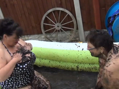 KimsAmateurs - Kim & Honey Mud Wrestling Pt1 HD Video