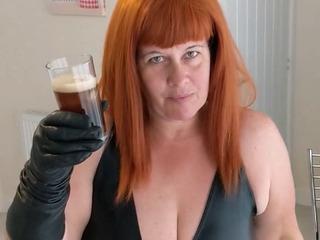 Mrs Leather Gets Sloshed Pt1