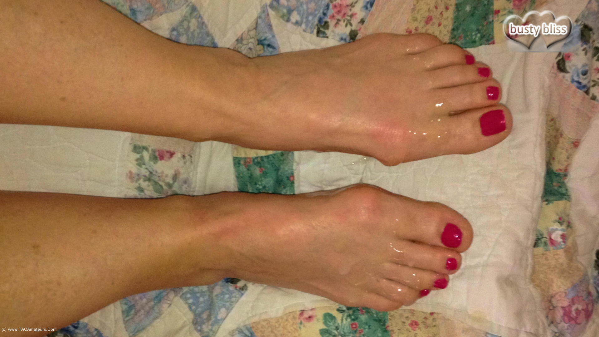 BustyBliss - SEE MY TOES & FEET BLASTED BY CUMSHOTS scene 1