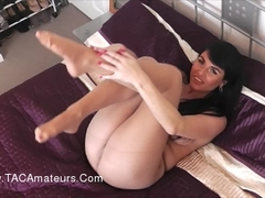 RaunchyRaven - Raven Ripping Pantyhose But Forgets To Wear Any Knickers Pt2 HD Video