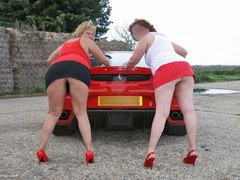 CurvyClaire - Little Red Sports Car Pt2 Gallery