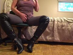 CougarBabeJolee - On Your Knees Bow & Serve My Sexy Leather Boots HD Video