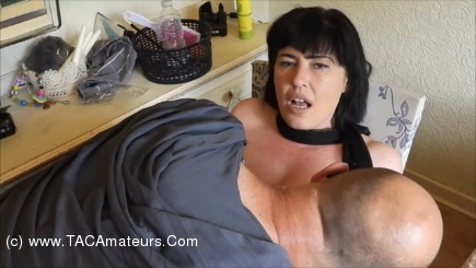 JuiceyJaney - Vicar Comes Round In His Fancy Dress & Catches Me Playing Pt scene 3