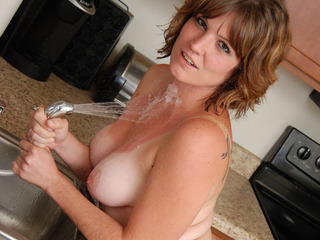 Misty B - Getting wet in the kitchen - the video HD Video