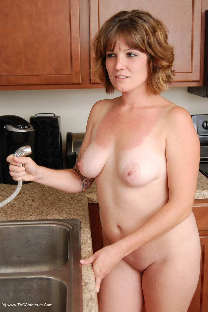 MistyB - Getting wet in the kitchen - the video scene 1