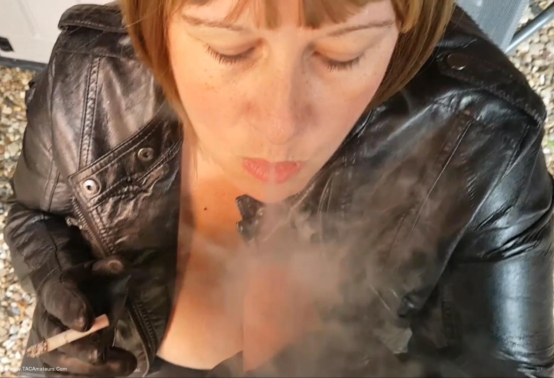 MrsLeather - Smoking & Handjob Pt2 scene 0