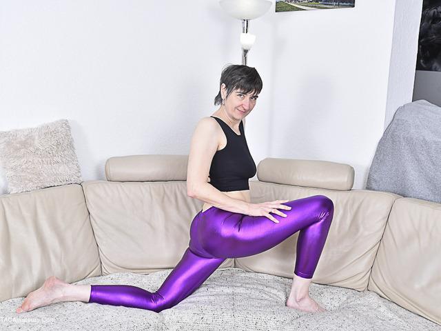 Shiny Purple Leggings Pt1