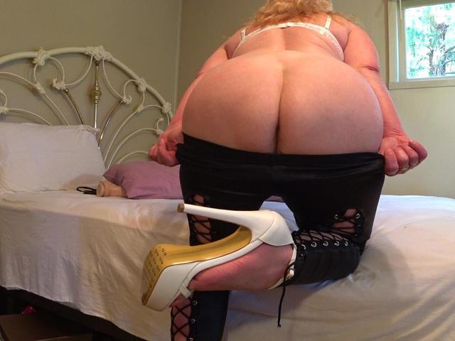 Worship Goddess In PVC Tight Pants & Killer Heels