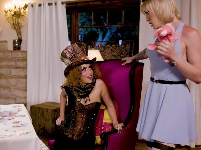Lena at the tranny tea party 2