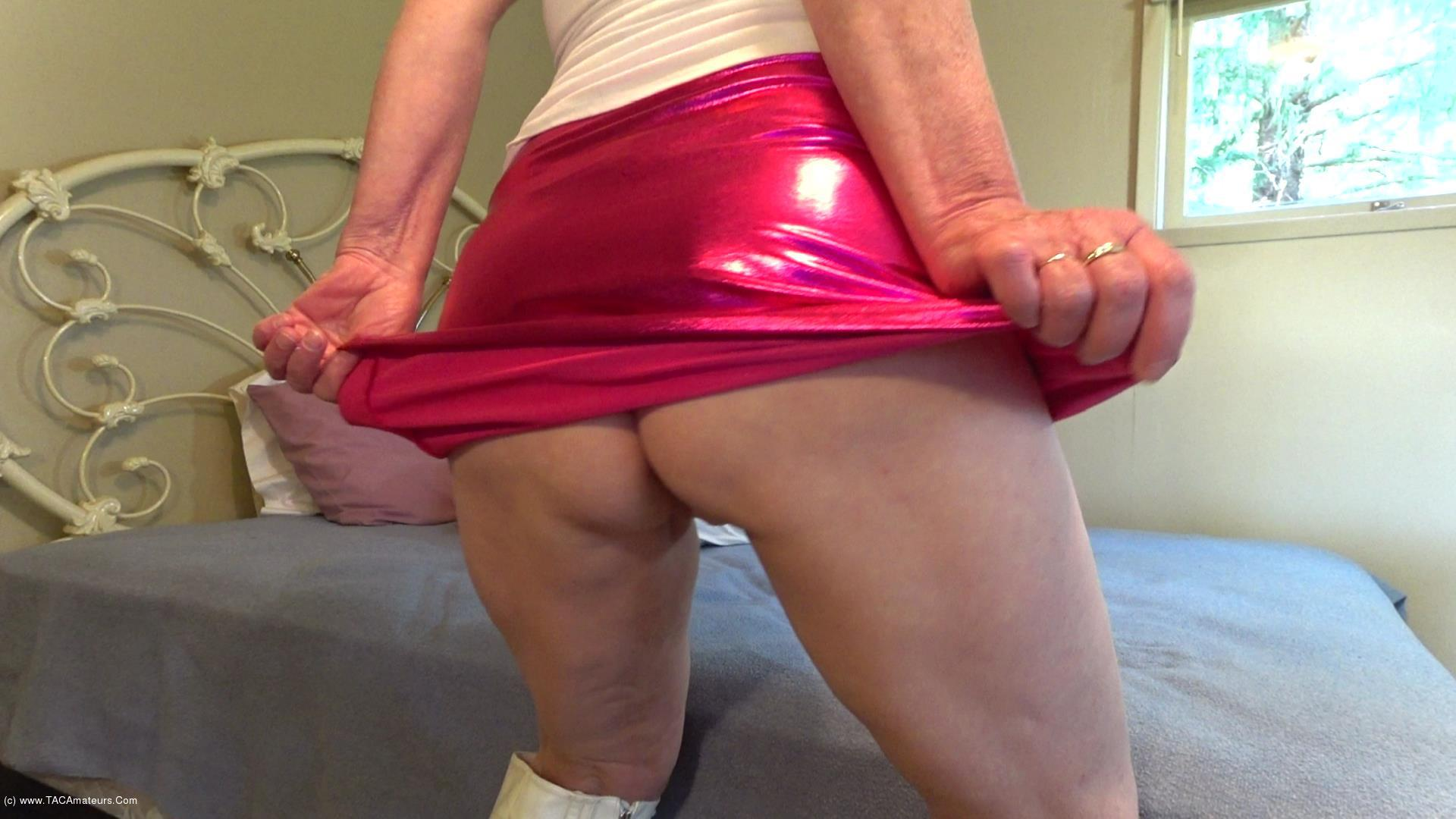 CougarBabeJolee - Sweet Arse Under A Shiny PVC Short Skirt scene 0