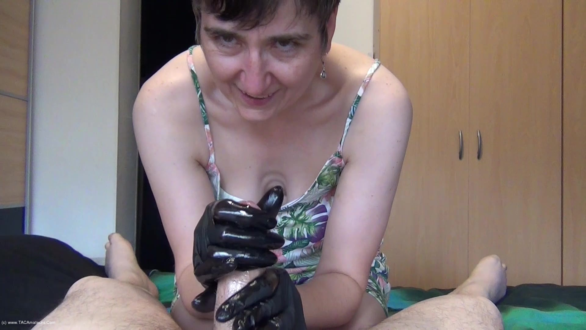 HotMilf - Black Latex Gloves scene 1
