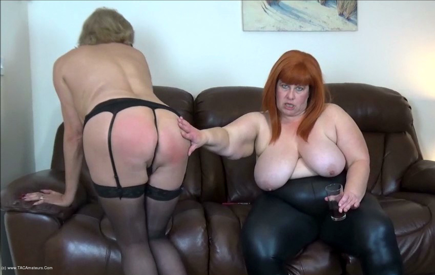 MrsLeather - Mrs Leather & Dimonty Stripping Off Pt2 scene 1
