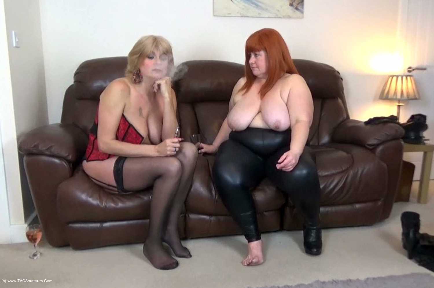 MrsLeather - Mrs Leather & Dimonty Stripping Off Pt2 scene 2
