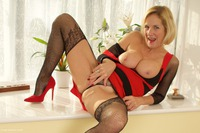 Molly-MILF - Red Dress In The Window Pt1 Free Pic 2