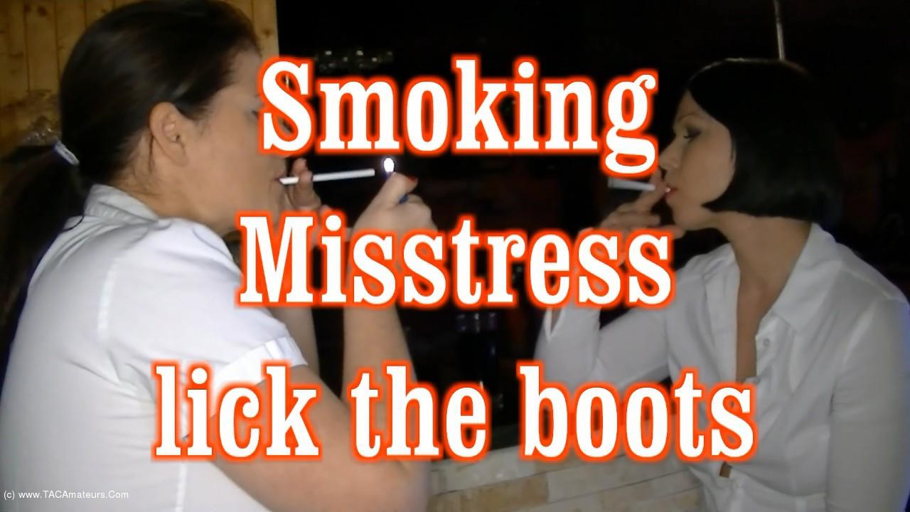 AngelEyes - Smoking Mistresses - The Boot Slave scene 0
