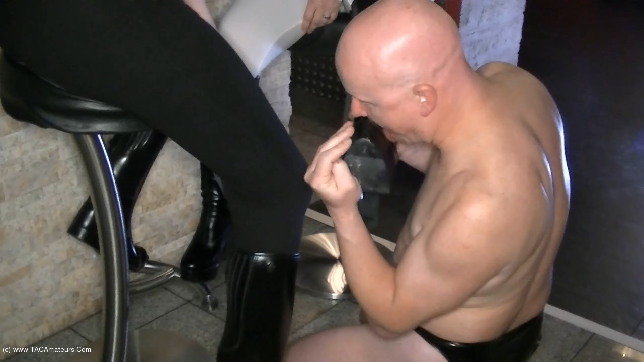 AngelEyes - Smoking Mistresses - The Boot Slave scene 1