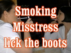 Angel Eyes - Smoking Mistresses - The Boot Slave HD Video