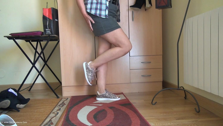 AbbyRoberts - Horny Nylons & A Mini Skirt scene 1