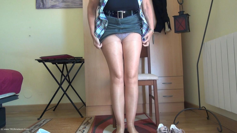 AbbyRoberts - Horny Nylons & A Mini Skirt scene 2
