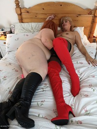 Mrs-Leather - Girl On Girl Action Free Pic 3