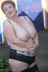 Kinky-Carol - White Mini & Stockings Pt2 Free Pic 2