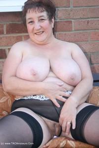 Kinky-Carol - White Mini & Stockings Pt2 Free Pic 4