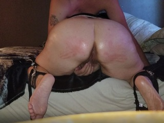 Spanked, Tied & A Giant Load