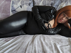 Mrs Leather - BBC Toy Sucking In My Catsuit Gallery