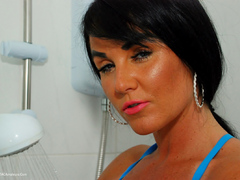 Raunchy Raven - Blue Satin Wet Look Raven Pt3 Gallery