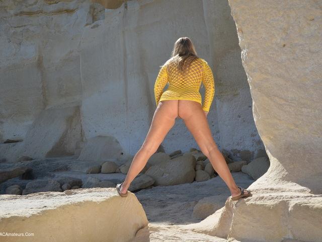 Spread Legs On The Rocks