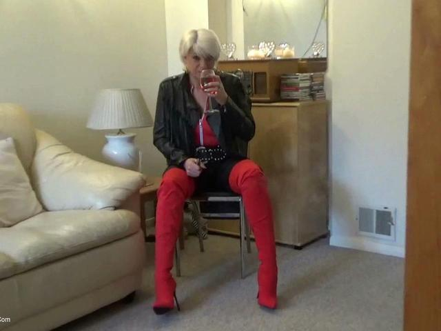 Dimonty - Red Boots Wine Smoking  Chat