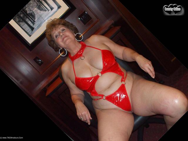 BustyBliss - Red Hotel PVC Teddy
