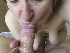 Hot Milf - Close Up Blowjob Gallery