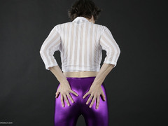 Hot Milf - My Shiny Purple Leggings Gallery