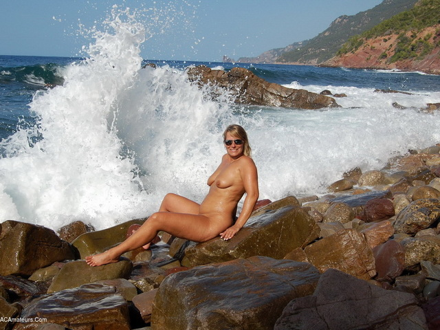 Naked On The Rock By The Sea